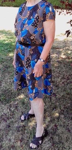Robe Femme avec tissu rapporté de vacances