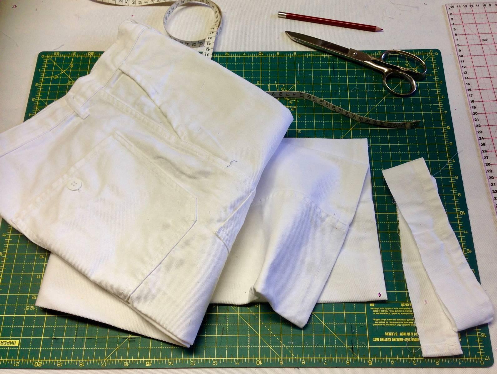 Ourlet sur pantalon de travail