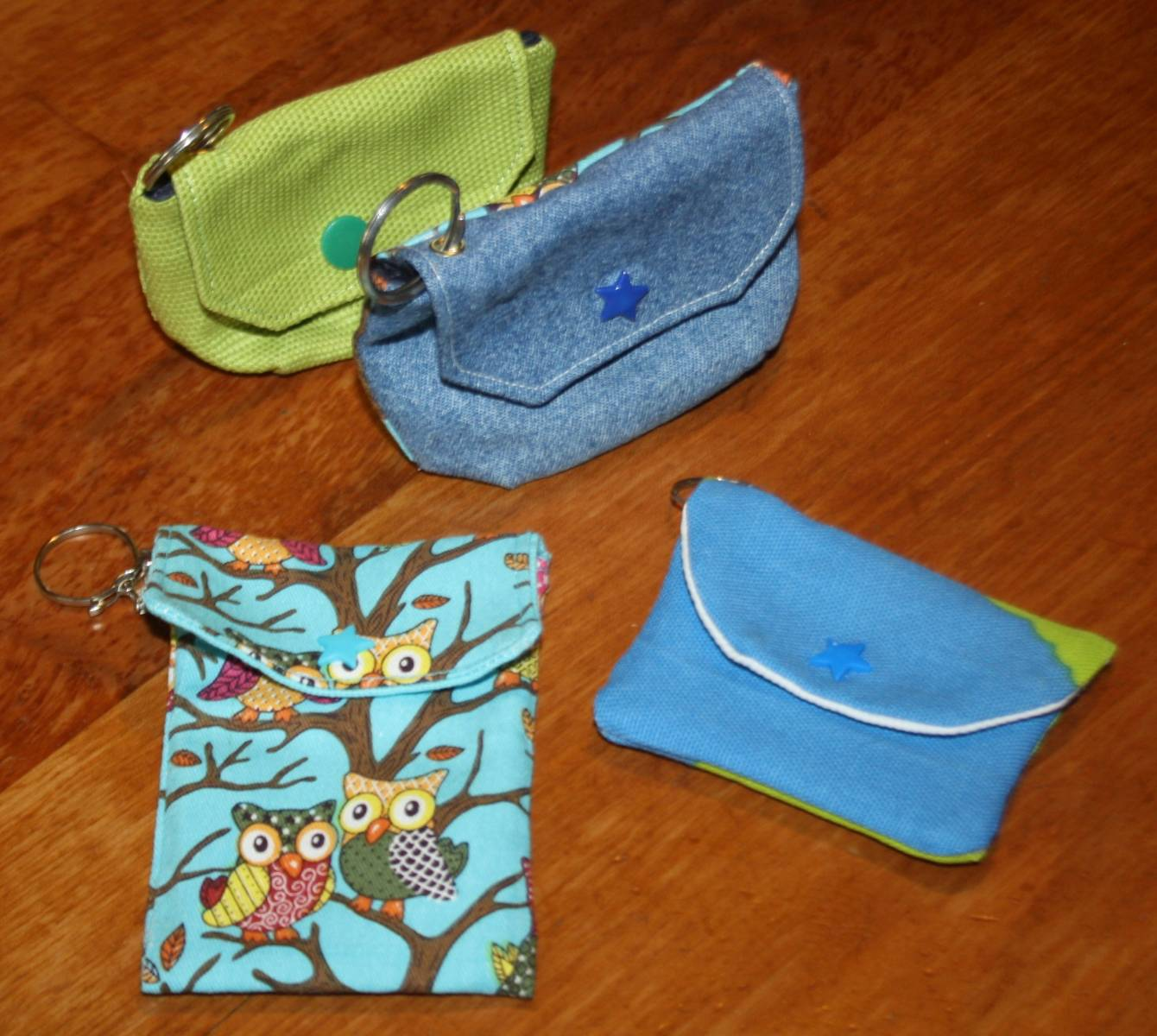 Petites pochettes porte clés