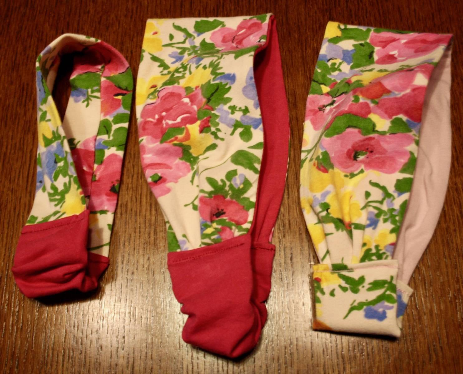 Serre têtes, fleuri, rose, tissus t-shirt