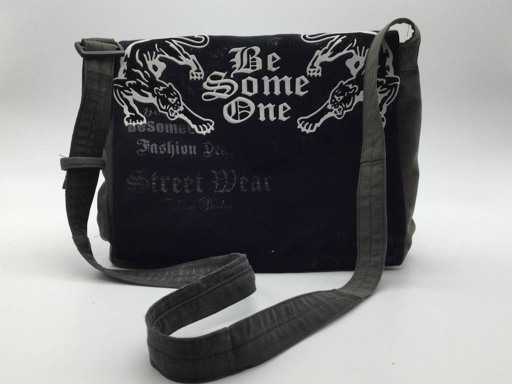 Sac Besace Tablette - Be Someone Gris/Noir