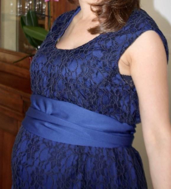 2 en 1 ! Robe de grossesse et d'allaitement, pour plusieurs mariage avant et après l'arrivé de bébé !