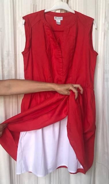 Rajout doublure robe